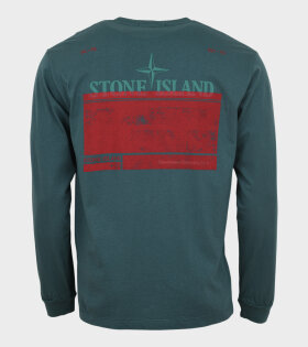 Stone Island - Logo Print L/S T-shirt Green