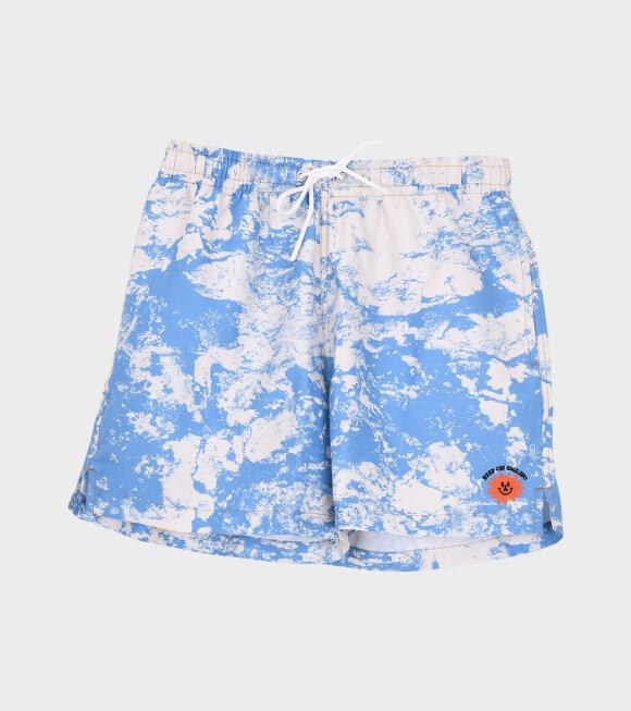 Carne Bollente - Too Short For Me Swim Shorts Blue/Off-White