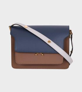 Medium Trunk Bag Navy/Brown/Grey