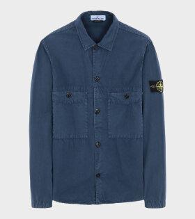 Overshirt Patch Jacket Blue