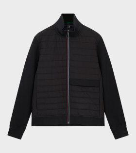 Mixed Media Jacket Black
