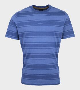 PS Logo Striped T-shirt Blue