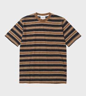 Norse Projects - Johannes Multi Stripe T-shirt Brown