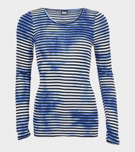 101 Rib Tie Dye Striped Blue