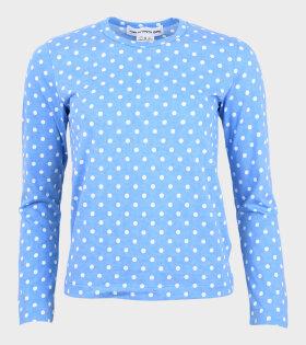 Ladies Dots Blouse Blue