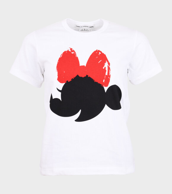 Comme des Garcons Girl - Minnie Mouse 2 T-shirt White/Red