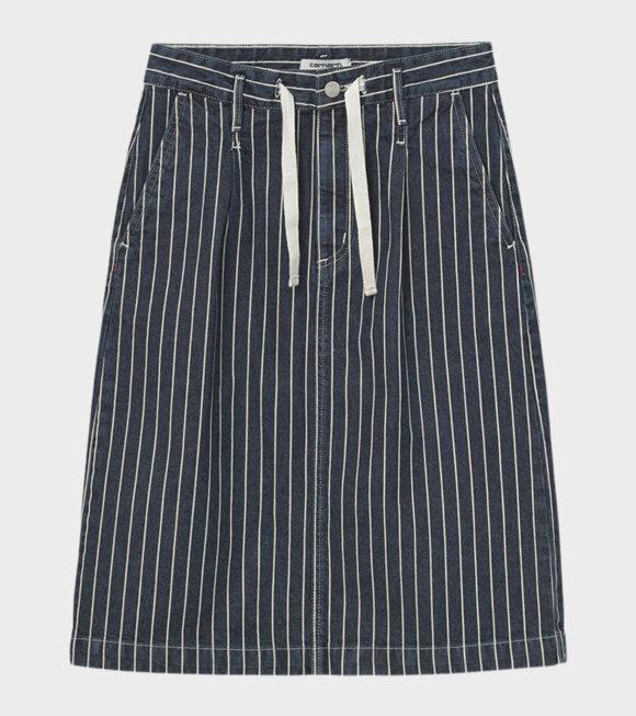 Carhartt WIP - W Trade Skirt Hickory Stripe Navy/Wax