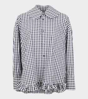 Oversized Check Shirt Black