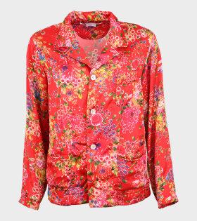 Ladies Flower Shirt Red