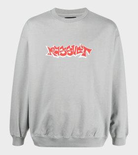 Printed Sweatshirt Grey/Red