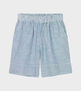 Aiayu - Short Long Striped Indigo