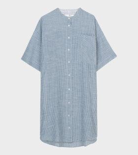 Aiayu - Karma Dress Striped Indigo