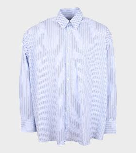 Borrowed BD Shirt Striped White/Blue