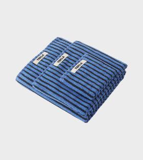 Bath Towel 70x140 Blue/Black