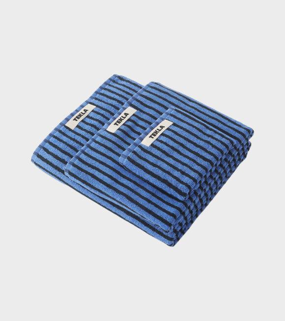 Tekla - Bath Towel 70x140 Blue/Black
