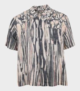 Box Shirt S/S Hanabi Print Multi