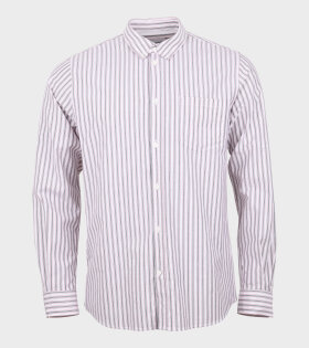 Anton Oxford Shirt Striped White/Navy/Red
