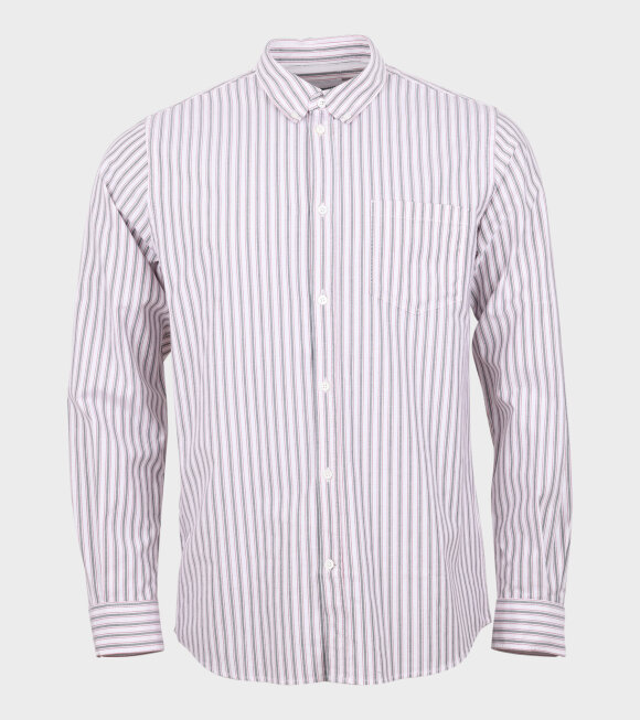Norse Projects - Anton Oxford Shirt Striped White/Navy/Red