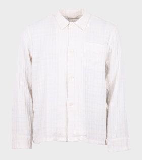 Box Shirt L/S Check White/Beige