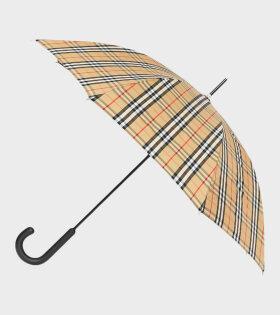 Walking Check Umbrella Beige