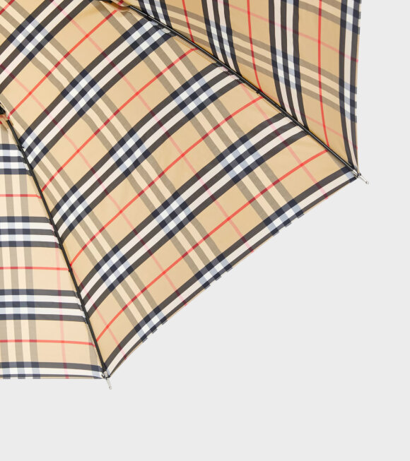 Burberry - Walking Check Umbrella Beige