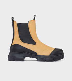 Ganni - Recycled Rubber Boots Chipmunk
