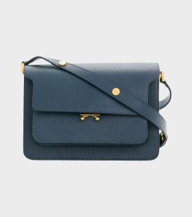 Medium Trunk Saffiano Bag Navy