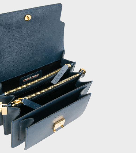 Marni - Medium Trunk Saffiano Bag Navy