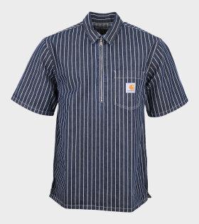 S/S Zip Trade Shirt Navy