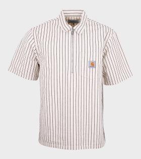 S/S Zip Trade Shirt White