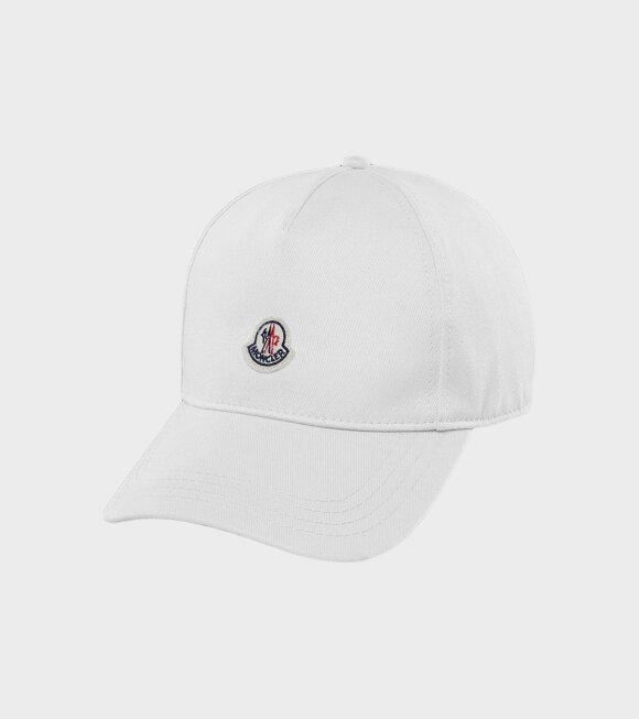 Moncler - Berretto Baseball Cap White