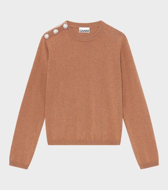Ganni - Cashmere Pullover Camel