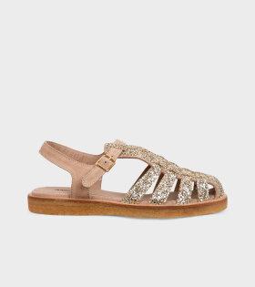 Closed Toe Sandals Gold