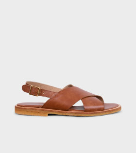 Crossover Sandals Tan Brown