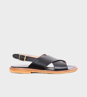Crossover Sandals Black
