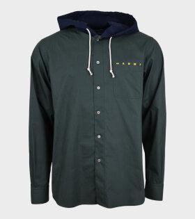 Hooded Shirt Green/Blue