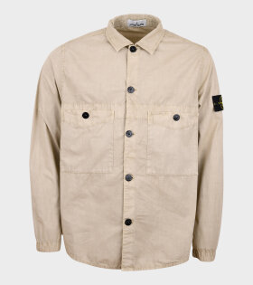 Overshirt Patch Jacket Beige