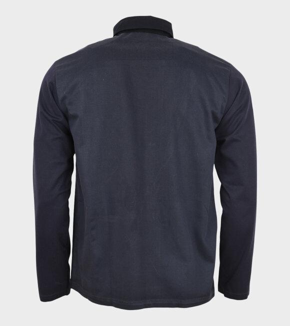 Leftover - Leftover Plain Shirt Navy