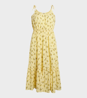 Delfina Sunny Flower Dress Yellow