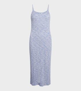Mads Nørgaard  - Delkissa Dress Blue/Pink Mouline
