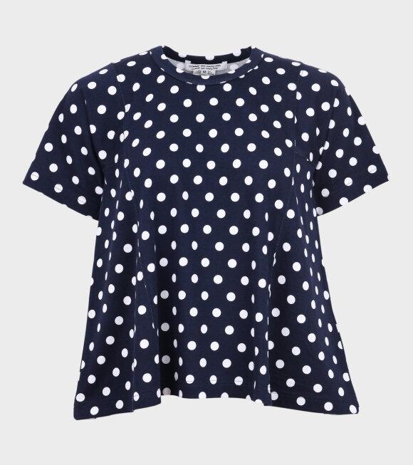 Comme des Garcons - Polka Dots SS T-shirt Navy