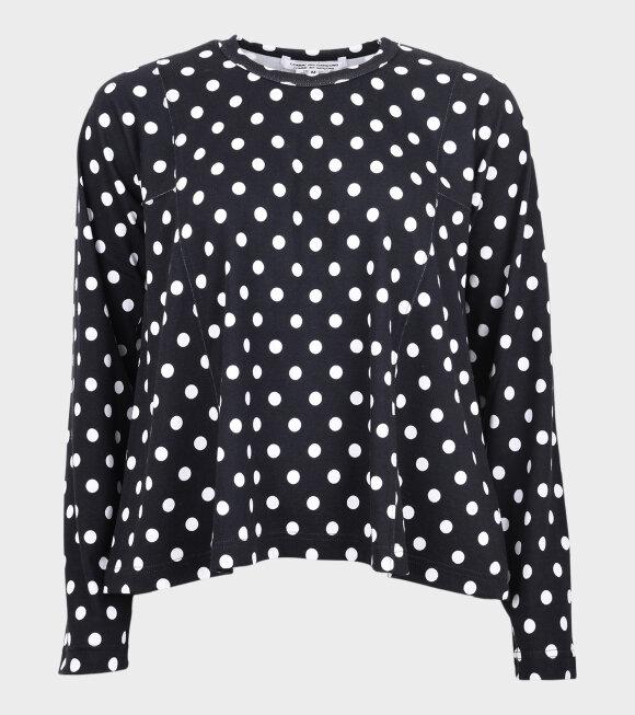 Comme des Garcons - Polka Dots LS T-shirt Black