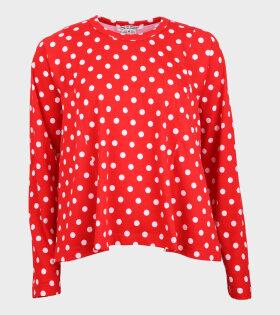 Comme des Garcons - Polka Dots LS T-shirt Red