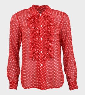 Comme des Garcons - Polka Dots Flamingo Shirt Red