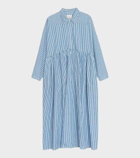 Phoebe Dress Stripe White/Blue