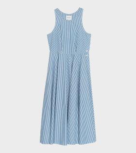 Claude Dress Stripe White/Blue