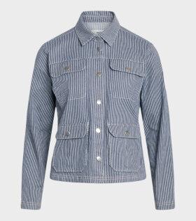 Mads Nørgaard  - Shanni Jacket Blue Striped