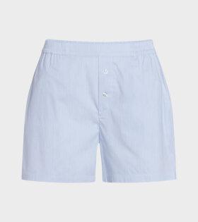 Mads Nørgaard  - Sloan Shorts Light Blue Stripe
