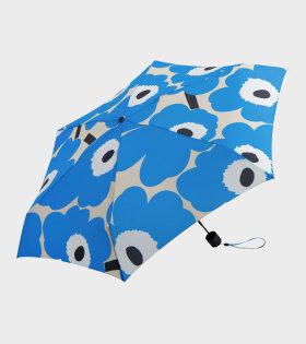 Marimekko - Mini Manual Unikko Umbrella Blue