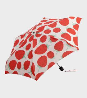 Marimekko - Mini Manual Mansikka Umbrella Red